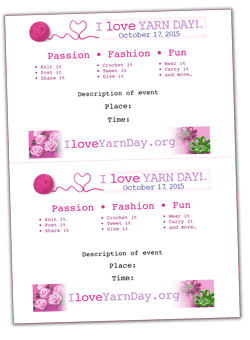 I Love Yarn Day Word Template image