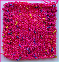 photo of sample of stitch pattern