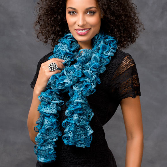 Free Crochet Patterns With Sashay Yarn : Discover Ruffled Scarves - Crochet Sashay? Scarf Welcome ...