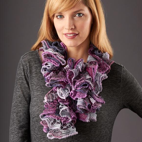 Pirouette™ Crochet Ruffled Scarf