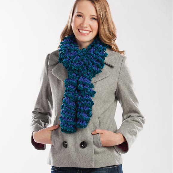 Crochet Radiant® Ruffled Scarf
