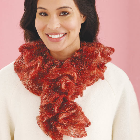 K9C Imagine Knitted Ruffled Tube Scarf