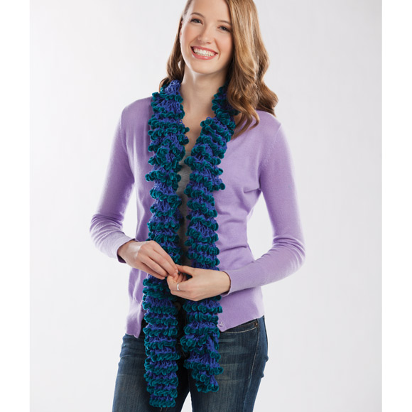 Knit Radiant® Ruffled Scarf