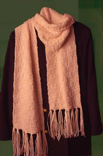 Knitting Pattern For Ribbon Scarf : Fringed with Ribbon Scarf Welcome to the Craft Yarn Council
