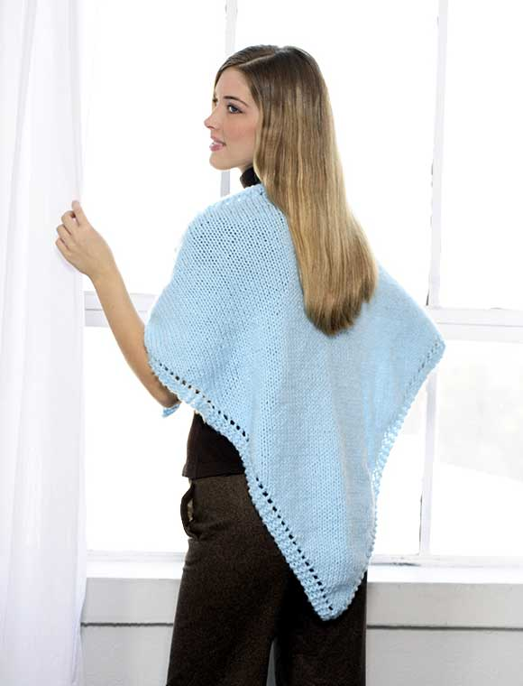 Triangular Shawl to Knit Pattern (back)