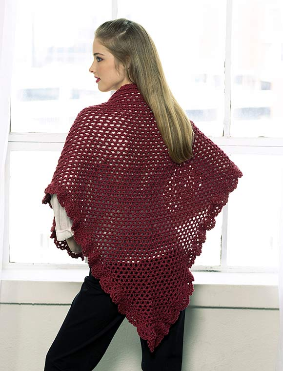 Crochet Triangle Shawl Patterns For Beginners : TRIANGULAR SHAWL to Crochet back Welcome to the Craft ...