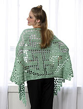 photo of a crocheted shawl 1 of 3