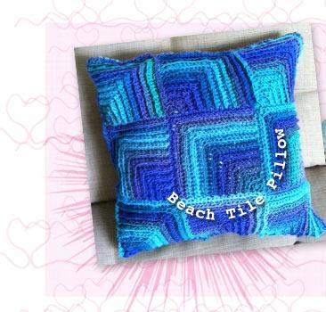 Kristin Olmdahl's Ocean Tile Pillow