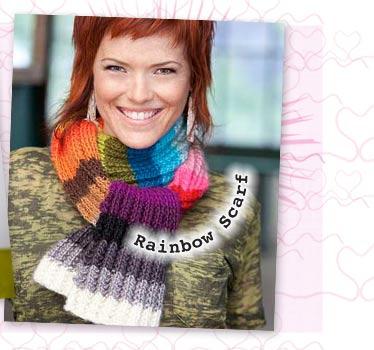 Vickie Howell's Rainbow Scarf