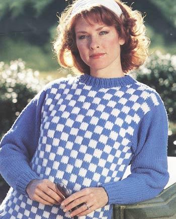 Alternating Blocks Knit Pullover