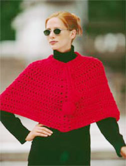Crochet - Apparel - Lil Collar Poncho - Free Patterns