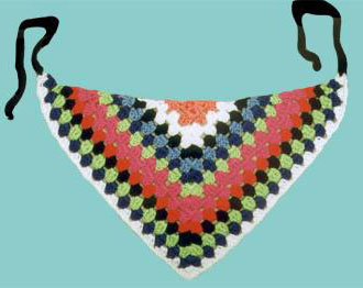 crocheted triangle fashion