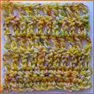 image of double crochet pattern
