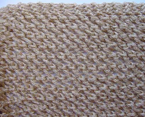 closeup of openwork knit