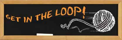 Get in the Loop! written on chalkboard