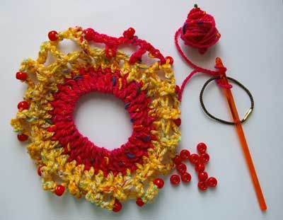 crocheted hairband photo