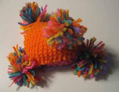 photo of a crocheted Humbug