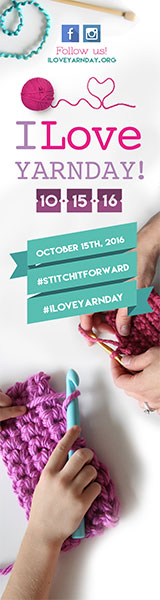 160x600 I Love Yarn Day banner