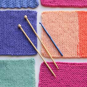 Knit and Crochet Squares