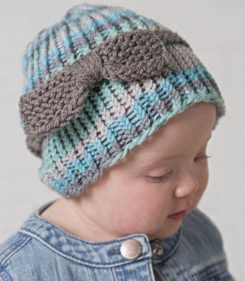婴儿和幼儿乐队和蝴蝶结帽子