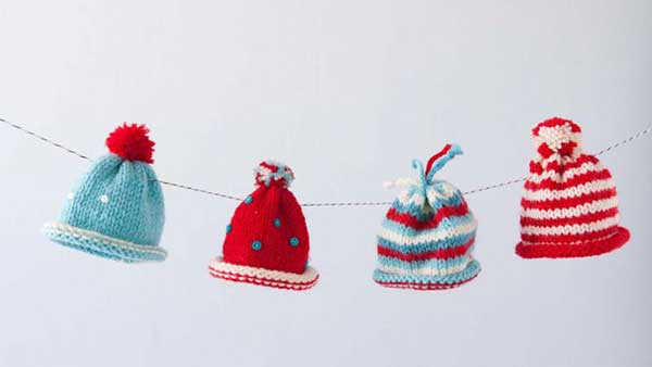 These miniature hat ornaments are a perfect project for new knitters looking for a quick and easy holiday craft. The scale is perfect for learning colorwork, including striping. Maggie shows you how to add color and carry it up the side, as well as gathering and seaming the hat. And she finishes by offering a range of darling embellishments that will add cheer to any holiday décor.