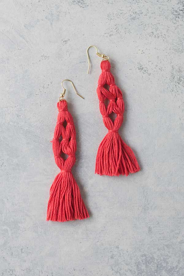 Wear your love for the tassel trend anywhere you go with these Coral Tassel Earrings! All you need to put these together is some embroidery floss, some jump rings and some earrings hooks and you'll be on your way