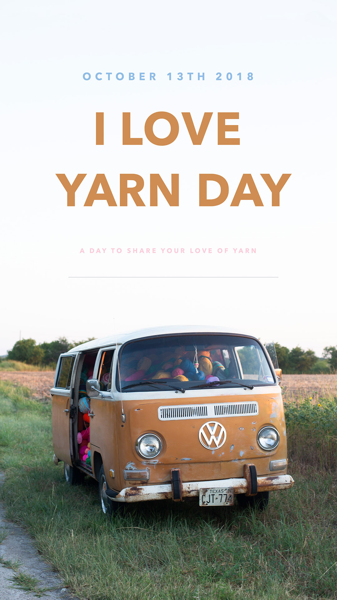 1080x1080 Instagram I Love Yarn Day banner
